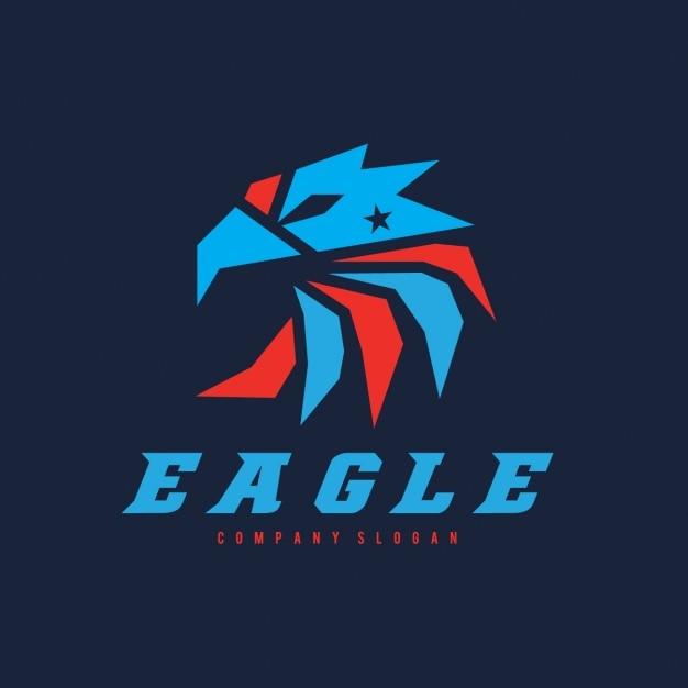 Logotipo modelo forma águia Vetor grátis