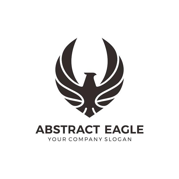 Logotipo moderno da águia negra Vetor Premium
