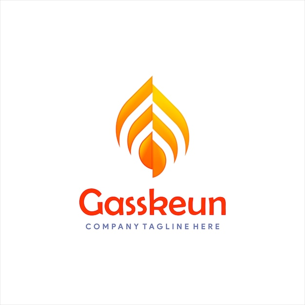 Logotipo moderno de gás ou óleo Vetor Premium