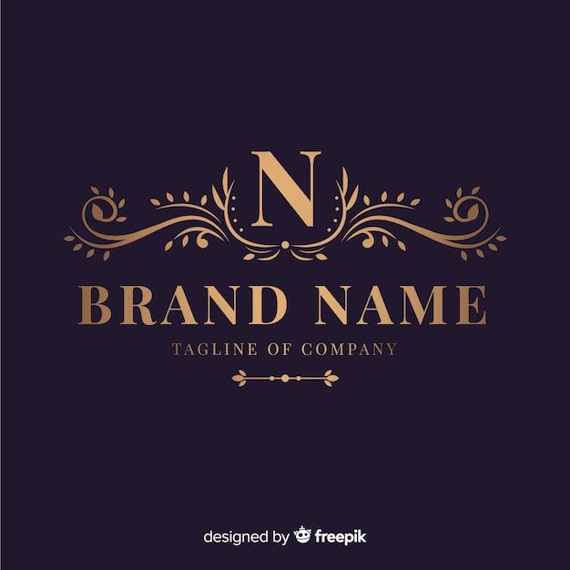 Logotipo ornamental elegante para empresa Vetor Premium