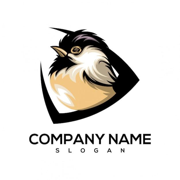 Logotipo pequeno pássaro Vetor Premium