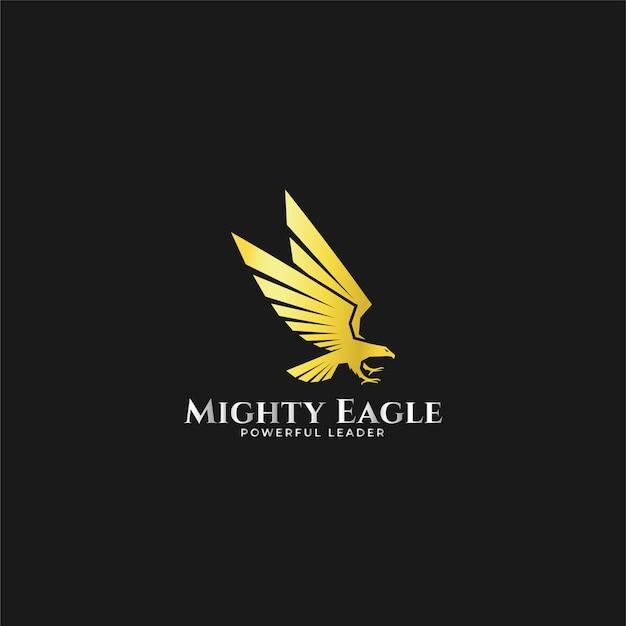 Logotipo poderoso da águia Vetor Premium