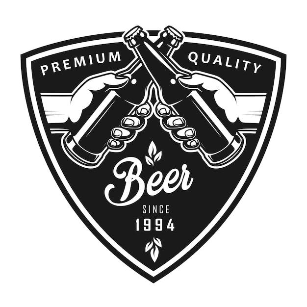 Logotipo preto octoberfest vintage Vetor grátis