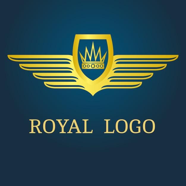 Logotipo real Vetor Premium