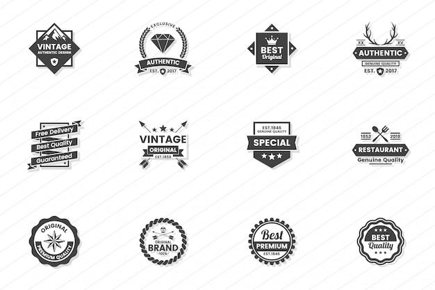 Logotipo retrô vector vintage Vetor Premium