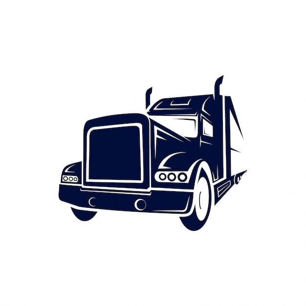 Logotipo semi caminhão Vetor Premium