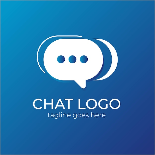 Logotipo simples de bate-papo ou logotipo do talk Vetor Premium