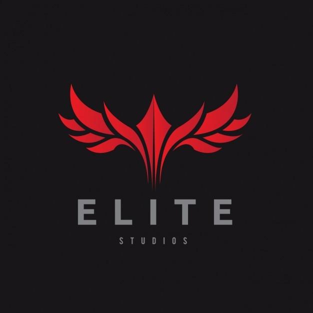 logotipo vermelho sobre um fundo preto baixar vetores gr tis. Black Bedroom Furniture Sets. Home Design Ideas