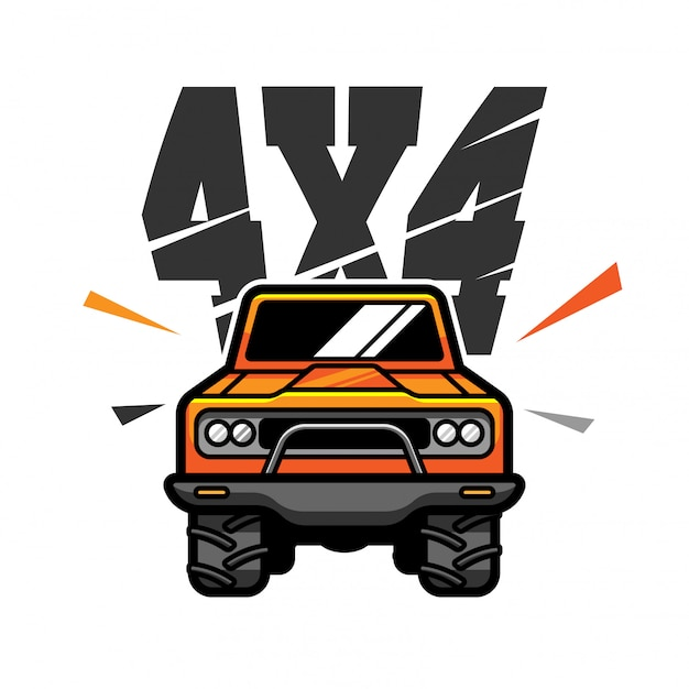 Logotipo vetor off road Vetor Premium