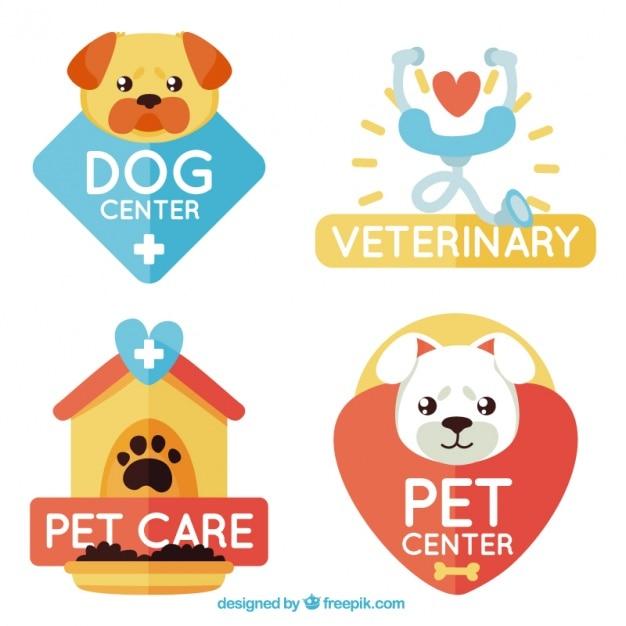 Logotipos bonitos para cuidados com os animais Vetor grátis