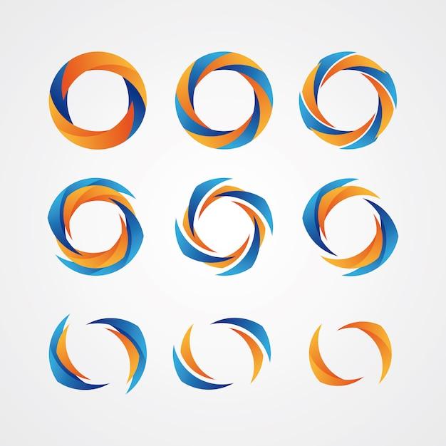 Logotipos criativos circulares Vetor Premium