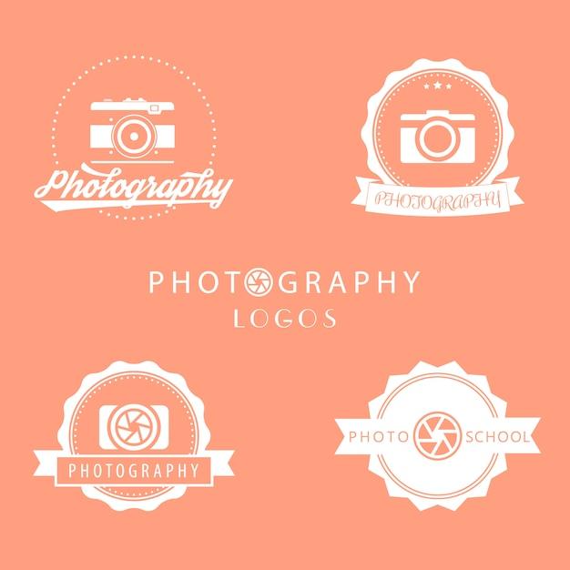 Logotipos de fotografia Vetor Premium