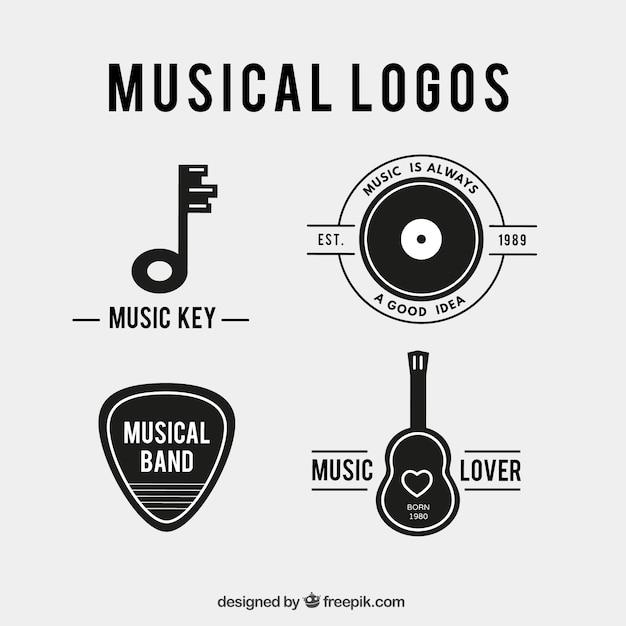 Logotipos musicais Vetor grátis