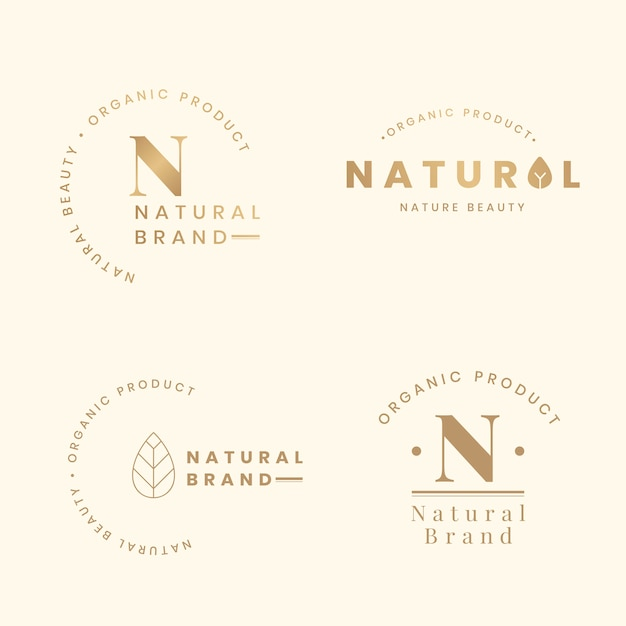 Logotipos naturais Vetor grátis