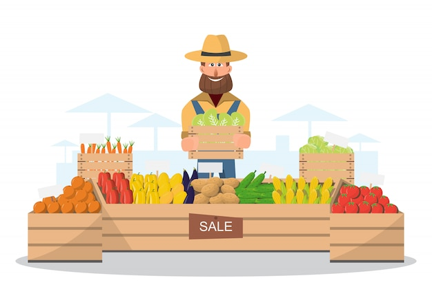 Loja rural Vetor Premium