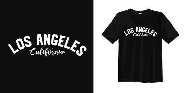 Los angeles, califórnia. design de camisa de desgaste urbano estilo t Vetor Premium