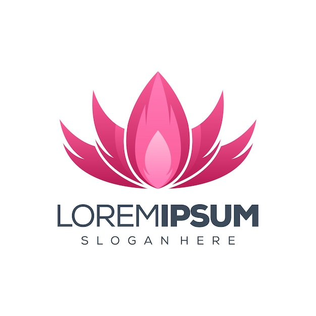 Lotus logo design ilustração Vetor Premium