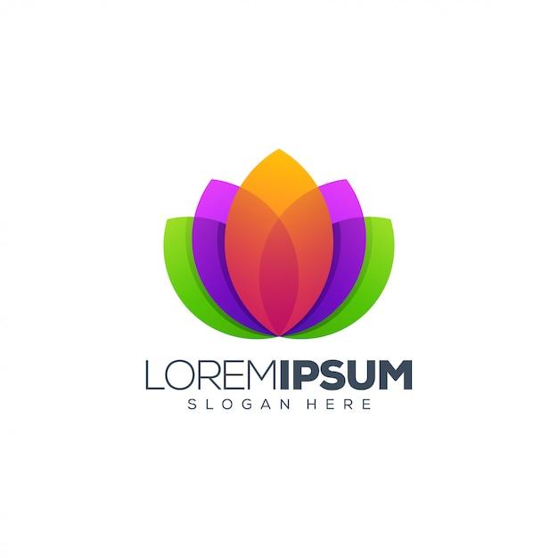 Lotus logo design vector ilustração design de logotipo Vetor Premium