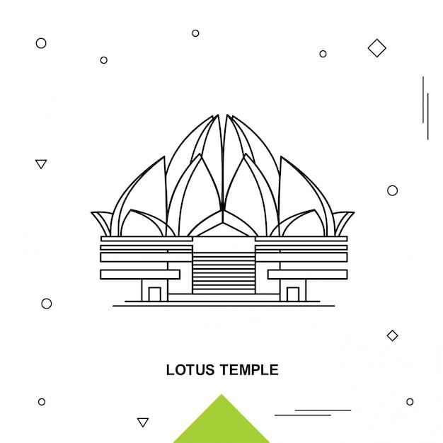 Lotus temple Vetor Premium
