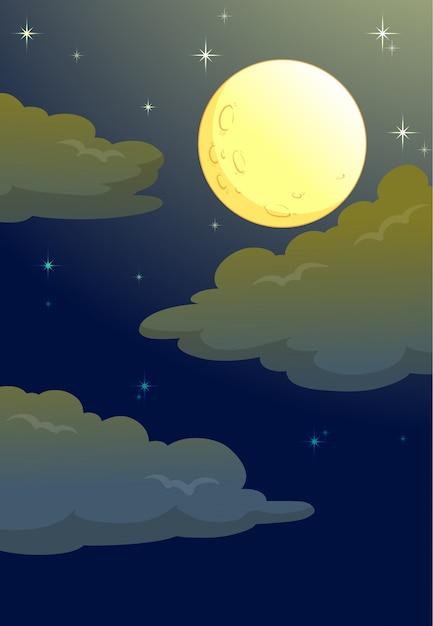 Lua cheia Vetor grátis