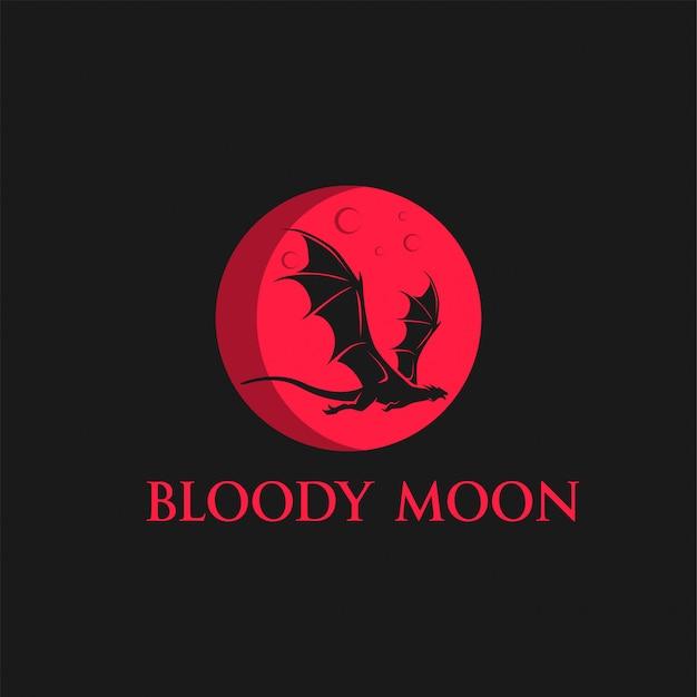 Lua sangrenta Vetor Premium