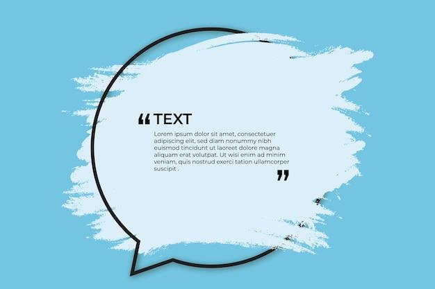 Lugar para texto com respingo azul Vetor grátis