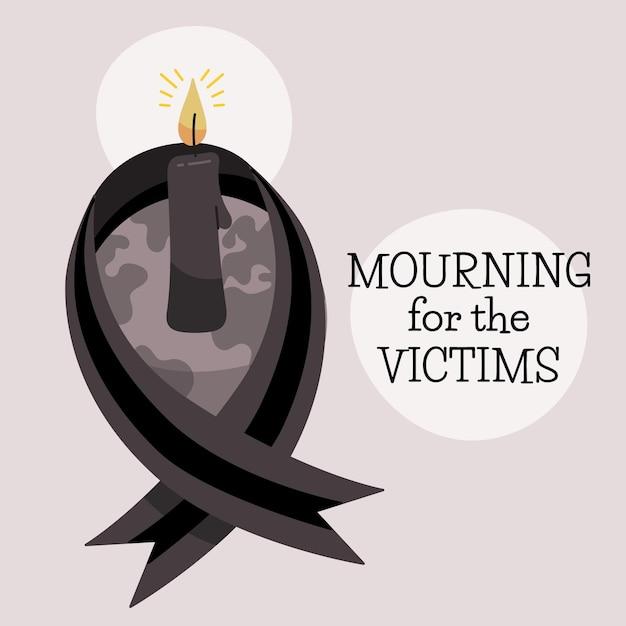 Luto pelo desenho das vítimas Vetor grátis