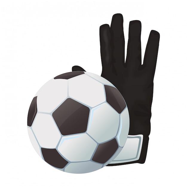 Luvas de bola de futebol e goleiro  c383b8622c890
