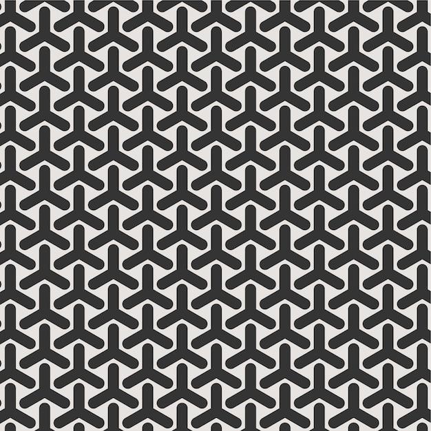 Luxo de fundo sem costura padrão preto e branco para textura de papel de parede Vetor Premium