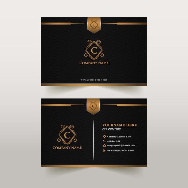 Luxo do cartão Vetor Premium