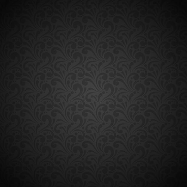 Luxo e elegante padrão sem costura preto Vetor grátis