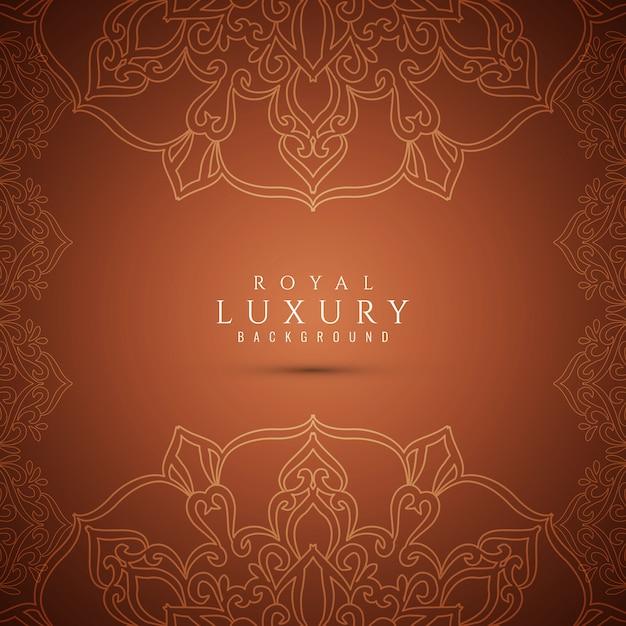 Luxo elegante marrom fundo bonito Vetor grátis