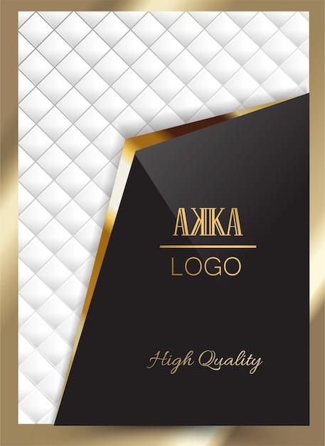 Luxo premium cover menu design geometric Vetor Premium
