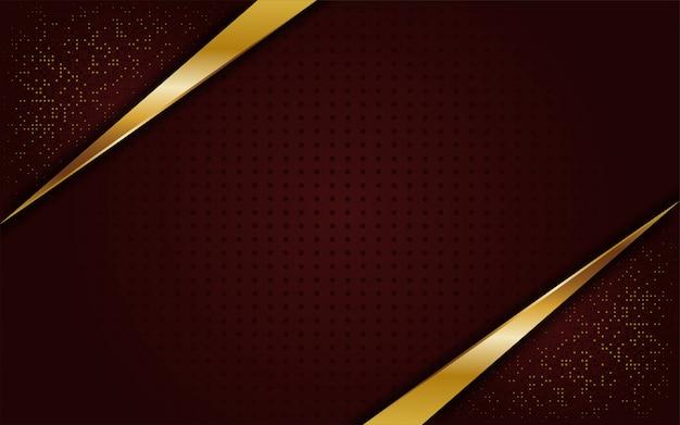 Luxuoso elegante fundo marrom dourado Vetor Premium