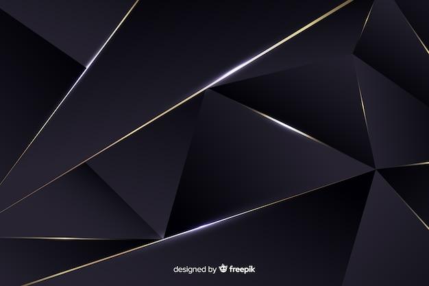 Luxuoso fundo escuro poligonal Vetor grátis