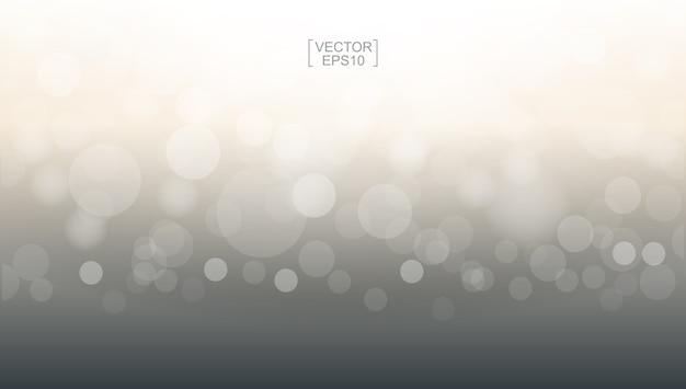 Luz abstrata bokeh borrado para o fundo. Vetor Premium