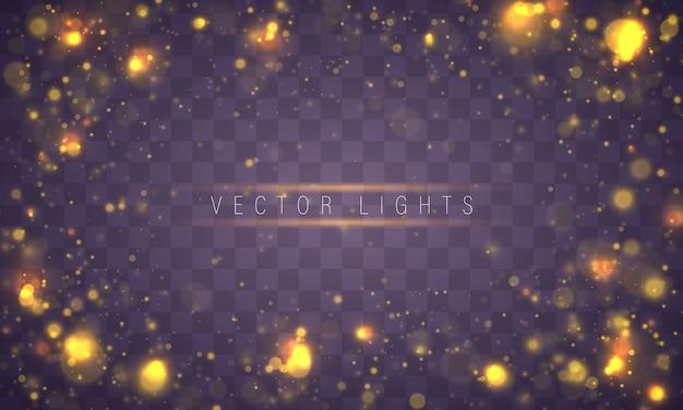 Luz abstrata bokeh brilhante luzes conceito de natal Vetor Premium