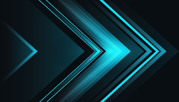 Luz azul forma fundo escuro Vetor grátis