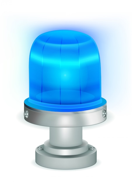 Luz azul piscando Vetor Premium
