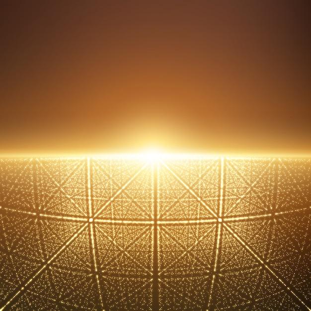 Luz brilhante com ilusão de profundidade e perspectiva Vetor grátis