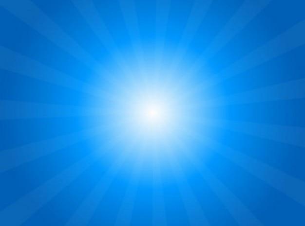 Luz brilhante, com vigas de fundo do céu Vetor grátis