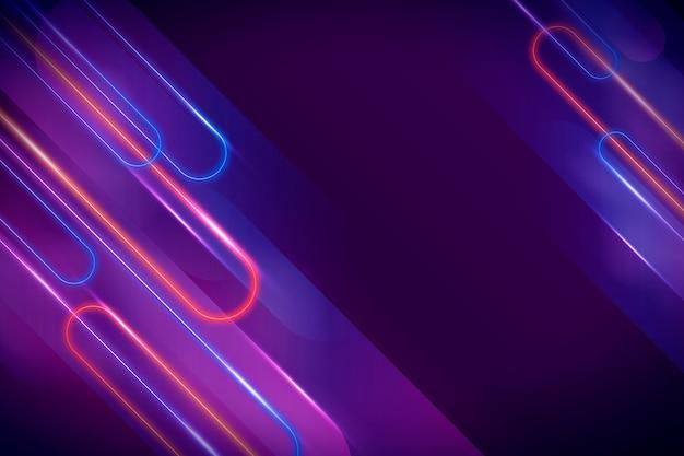 Luz de fundo abstrato de néon Vetor grátis