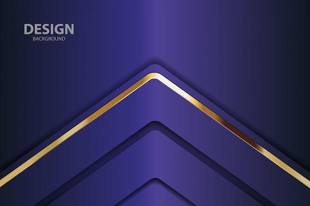 Luz de fundo azul marinho com cor abstrata moderna Vetor Premium