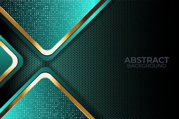 Luz de fundo de brilho com tecnologia moderna de cor abstrata Vetor Premium