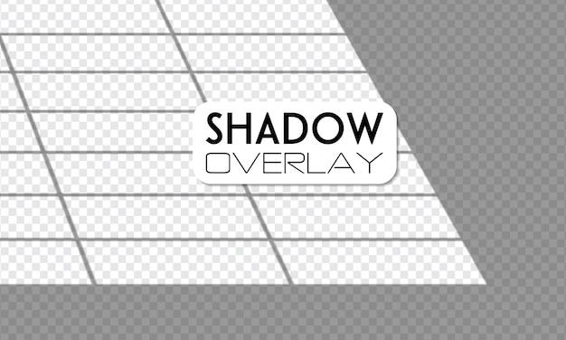 Luz de janela realista, luz solar, efeitos de sombra de sobreposição transparente. Vetor Premium