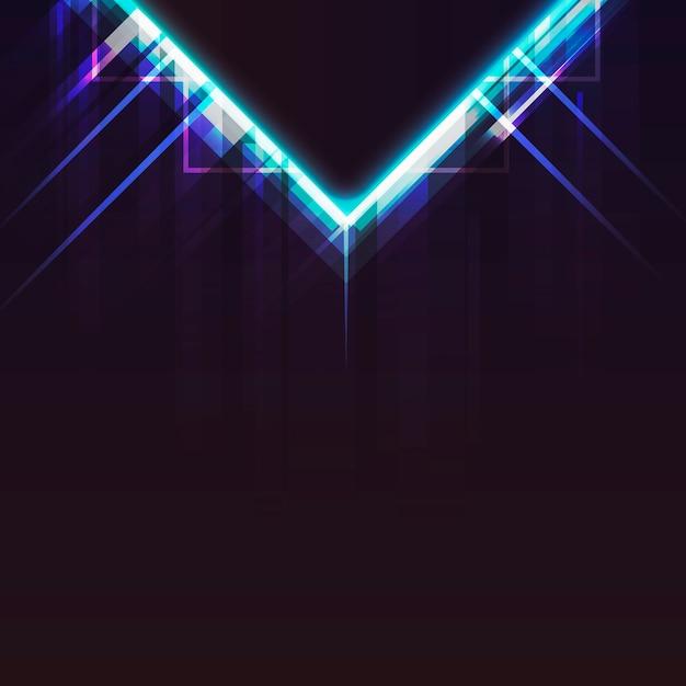 Luz de néon Vetor grátis