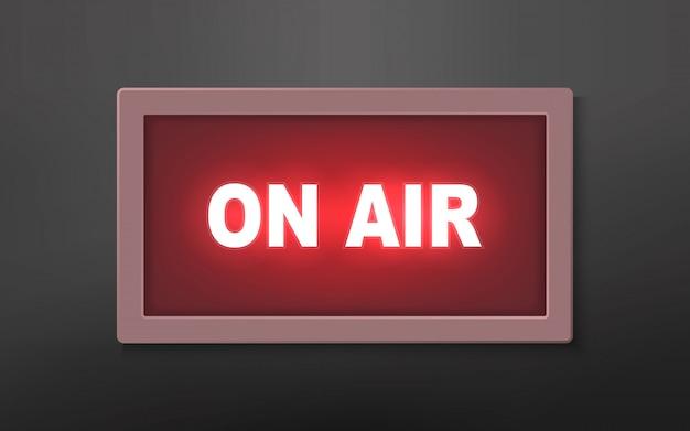 Luz de transmissão de estúdio no ar Vetor Premium