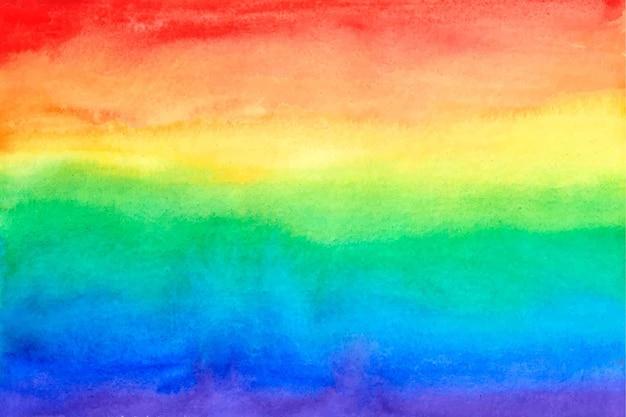 Luz tudo está ok aquarela arco-íris Vetor grátis