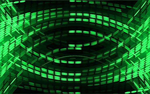 Luz verde abstrato Vetor Premium