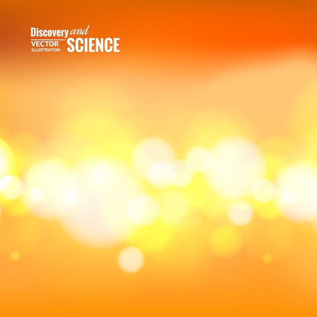 Luzes de bokeh sobre fundo laranja. Vetor grátis